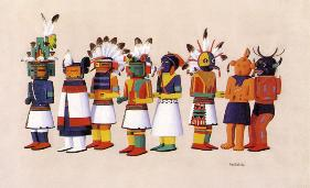 Hopi Kachina Dolls by Fred Kabotie