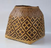 Cherokee basket with cane weaving