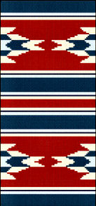 Traditional Navajo Weaving Pattern