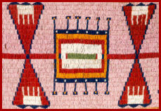 Sioux Native American Beaded Blanket