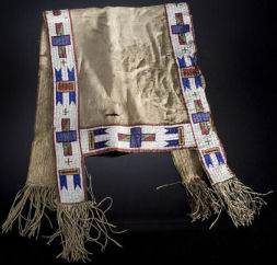 Sioux Native American Saddle Blanket, 1880
