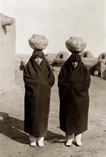 Zuni Women proudly Show Their Newest Pottery, 1930
