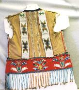 Cherokee indian beaded shirt