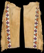 Sioux Native American Beaded Leggings